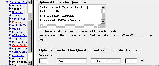 Setting up the fee in admin (compiled version)